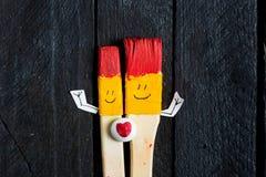 2 brsushes искусства с стороной улыбки Стоковая Фотография