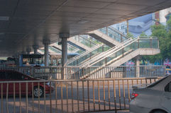 BRT bus station Stock Photo