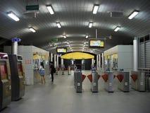BRT Sathon station. Bangkok, Thailand-April 11, 2017:The Bangkok BRT is a bus rapid transit system in Bangkok, Thailand.The system`s island platform is accessed Royalty Free Stock Image