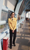 Brt station female staff Royalty Free Stock Image