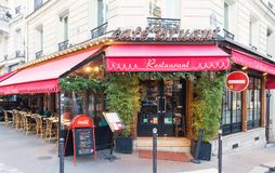 Bruant is historical cafe located in Montmatre area of Paris, France. Paris, France-January 14, 2018: The Bruant is historical cafe in Montmartre area of Paris Stock Image