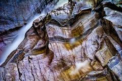 Bruar spadki, średniogórza, Szkocja Fotografia Royalty Free