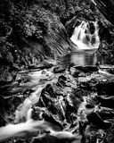 Bruar spadki, średniogórza, Szkocja Zdjęcia Stock