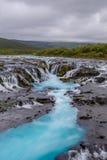Bruarfoss瀑布,南冰岛 免版税库存照片