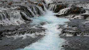Bruarfoss瀑布,雷克雅未克,冰岛 股票录像