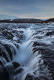Bruarfoss Chasm. Looking in to the heart of Bruarfoss, from the middle of it Royalty Free Stock Photography