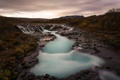 Bruarfoss en Islande Images stock