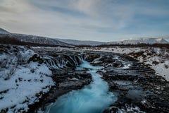 Bruarfoss, IJsland Royalty-vrije Stock Fotografie