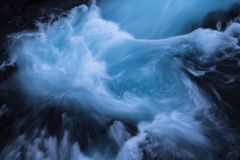 Bruarfoss Swirls. Bruarfoss taken from an angle rarely seen Royalty Free Stock Image