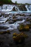 Bruarfoss-Wasserfall Der blaue Wasserfall in Island Stockfotografie