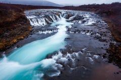 Bruarfoss-Wasserfall in Island Stockbilder