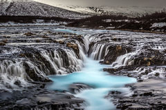 Bruarfoss waterfall in Iceland Royalty Free Stock Images