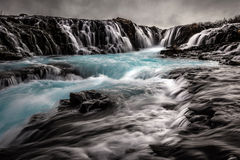 Bruarfoss waterfall in Iceland Stock Photos