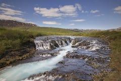 Bruarfoss waterfall Royalty Free Stock Image