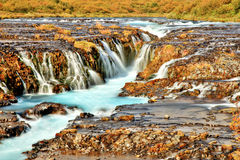 Bruarfoss Waterfall in Iceland Stock Images