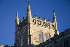 Bruce. Robert the Bruce commemorated on top of Dunfermline Abbey, Fife, Scotland Royalty Free Stock Images