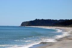 Bruce Bay or Mahitahi, South Island New Zealand. View north along the shore of the Tasman Sea in Bruce Bay or Mahitahi in South Westland on the west Coast of Stock Photo