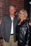 Bruce Boxleitner,Cindy Morgan. Bruce Boxleitner and Cindy Morgan  at the TRON Legacy & MySpace Comi-Tron Party, Flynn's Arcade, San Diego, CA 07-23-10 Royalty Free Stock Images
