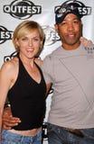 Bruce Daniels, Elaine Hendrix imagem de stock
