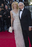 Bruce Dern e Laura Dern imagem de stock