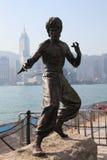 bruce Hong Kong leestaty Arkivbild