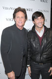 Bruce Jenner,Evan Lysacek,Vera Wang Royalty Free Stock Photo
