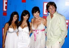 Bruce Jenner, Kris Jenner, Kim Kardashian και Kourtney Kardashian στοκ εικόνα