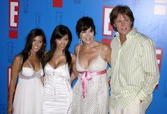 Bruce Jenner, Kris Jenner, Kim Kardashian e Kourtney Kardashian aka Caitlyn Jenner imagens de stock royalty free