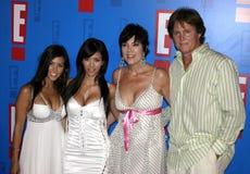 Bruce Jenner, Kris Jenner, Kim Kardashian e Kourtney Kardashian aka Caitlyn Jenner foto de stock