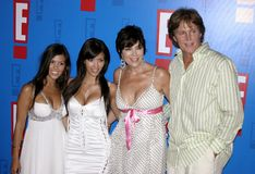 Bruce Jenner, Kris Jenner, Kim Kardashian and Kourtney Kardashian aka Caitlyn Jenner Royalty Free Stock Images