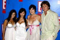 Bruce Jenner, Kris Jenner, Kourtney Kardashian e Kim Kardashian foto de stock royalty free
