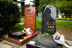Bruce Lee and Brandon Lee grave site Royalty Free Stock Photos