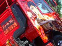 Bruce Lee Custom DAF Truck Royalty Free Stock Photos