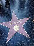Bruce Lee Hollywood walk of fame star. Stock Photography