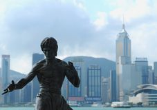 Bruce Lee - Hong Kong Photo stock