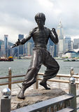 Bruce Lee monument Stock Photography