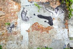 Bruce Lee Mural. immagine stock