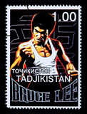 Bruce Lee Postage Stamp Royalty-vrije Stock Fotografie