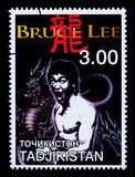 Bruce Lee Postage Stamp Stock Foto