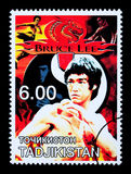 Bruce Lee Postage Stamp Stock Foto's