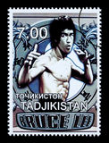 Bruce Lee Postage Stamp Royalty-vrije Stock Foto's