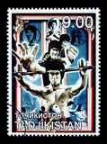 Bruce Lee Postage Stamp Royalty-vrije Stock Foto