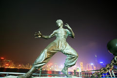 Bruce lee's statue Stock Photos