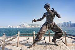 Bruce Lee-standbeeld Stock Foto's