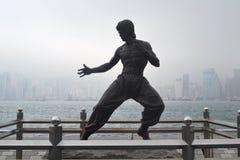 Bruce Lee statua Zdjęcia Stock