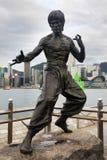 Bruce Lee statua Fotografia Stock