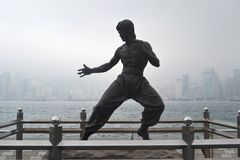 Bruce Lee Statue Photos stock