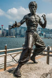 Bruce Lee statue Avenue of Stars Tsim Sha Tsui Kowloon Hong Kong Royalty Free Stock Images