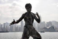 Bruce Lee Statue bei Hong Kong Stockbilder