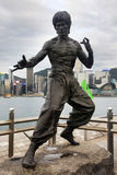 Bruce Lee statue Stock Photography